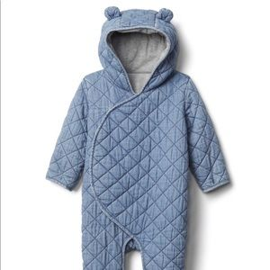 Gap Baby Quilted Bear Bunting suite. 6-12 mos